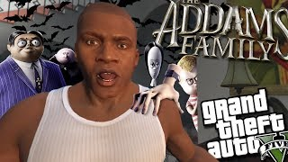 Franklin MEETS The Addams Family MOD (GTA 5 PC Mods Gameplay)