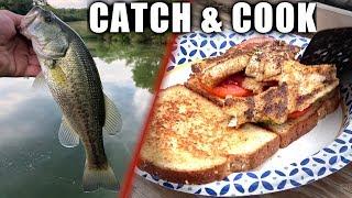 DITCH PICKLE SANDWICH: Catch n Cook - Largemouth Bass