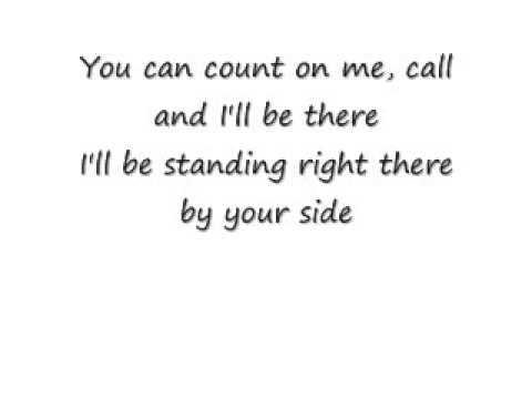 count on me - sister 2 sister with lyrics