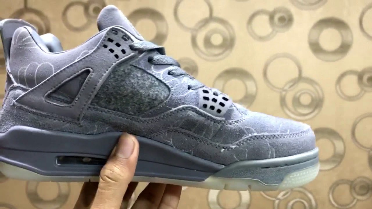 fce4fe4342d jordan retro 4 kaws first copy 7a shoes - YouTube