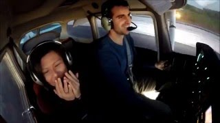 Taking my girlfriend up for her FIRST FLIGHT! - Cessna 172 - GoPro HD