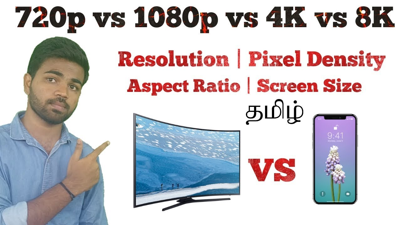720p vs 1080p vs 4k vs 8k|what is resolution & pixel density in