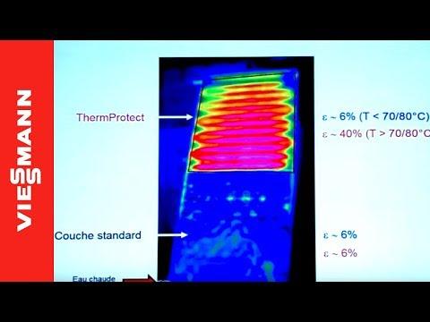 Nouveau capteur solaire Vitosol 200-FM Thermprotect à température contrôlée.