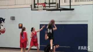 Girls Basketball Dunk Fail