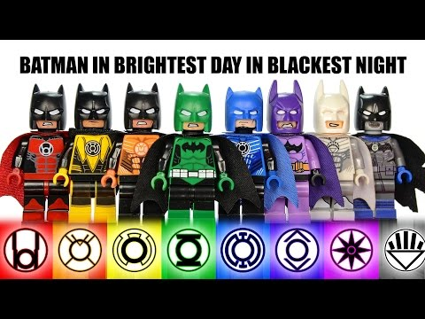 LEGO Batman MOC All Lantern Corps Suits In Brightest Day In Blackest Night Green Lantern Minifigures