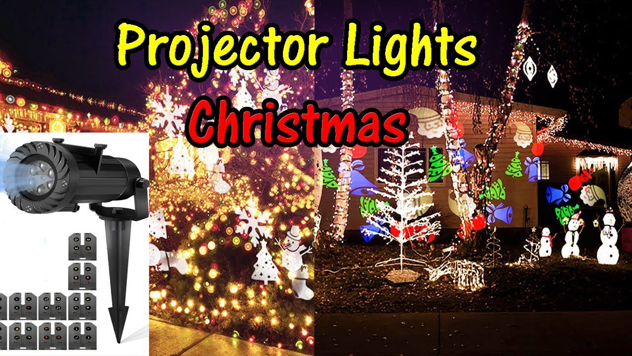 Christmas Projector Lights Led Slide Projection Holiday Camtoa 8 Function Lamp Youtubereviews Christmaslights Projectorlights