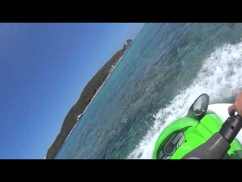 Jet ski on Palomino Island (isla palominos) in Fajardo Puerto Rico