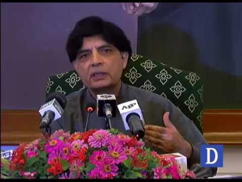 Chaudhry Nisar Press conference in Karachi
