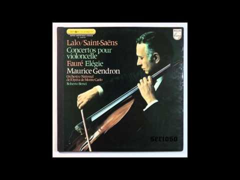 Saint Saens, Cello Concerto, Faure, Elégie, Op 24 , Maurice Gendron, Cello