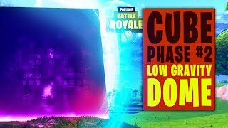 Cube Started Phase 2 in Fortnite (Cube Surrounded by Blue Dome + Low Gravity Field / Map Updates)