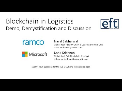 Blockchain in Logistics – Demo, Demystification and Discussion
