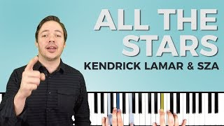 How to play 'ALL THE STARS' (Black Panther) by Kendrick Lamar/SZA on piano -- Playground Sessions