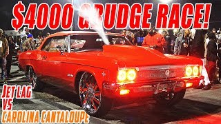 EZZY MONEY VS COUNTRY C $4000 GRUDGE RACE! Supercharged Impala VS Procharged Donk
