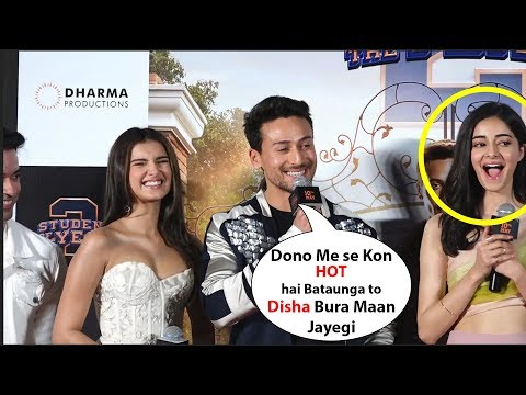 Tiger shroff  Making Fun Of His Co stars Ananya Pandey & Tara Sutaria | student of the year 2