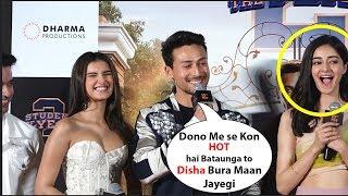Tiger shroff  Making Fun Of His Co stars Ananya Pandey & Tara Sutaria | student of the year 2