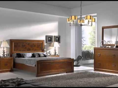 Dormitorios de matrimonio en madera con camas mesillas for Imagenes de roperos para dormitorios