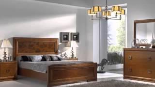Dormitorios de matrimonio en madera con camas mesillas - Muebles munoz navalcarnero ...