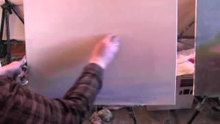 Научиться рисовать морской пейзаж море яхты уроки живописи маслом Сахаров hd720