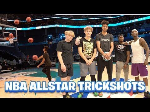 Trickshot Challenge on NBA ALL-STAR COURT! vs. Jesser, Tristan Jass, Bone Collector & Jay Jones