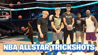 Trickshot Challenge on NBA ALL-STAR COURT! vs. Jesser, Tristan Jass, Bone Collector & Jay Jones