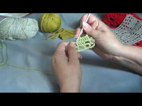 Филейное вязание крючком от центра, урок № 1