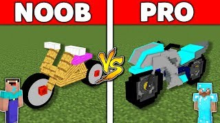 Minecraft Battle: NOOB vs PRO : MOTORBIKE BASE Challenge in Minecraft Animation