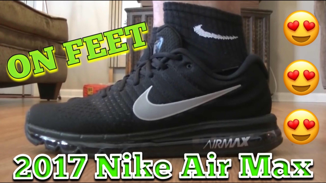 2813b800aa Nike air max 2017 Black open box video (ON FEET) I love these shoes ...
