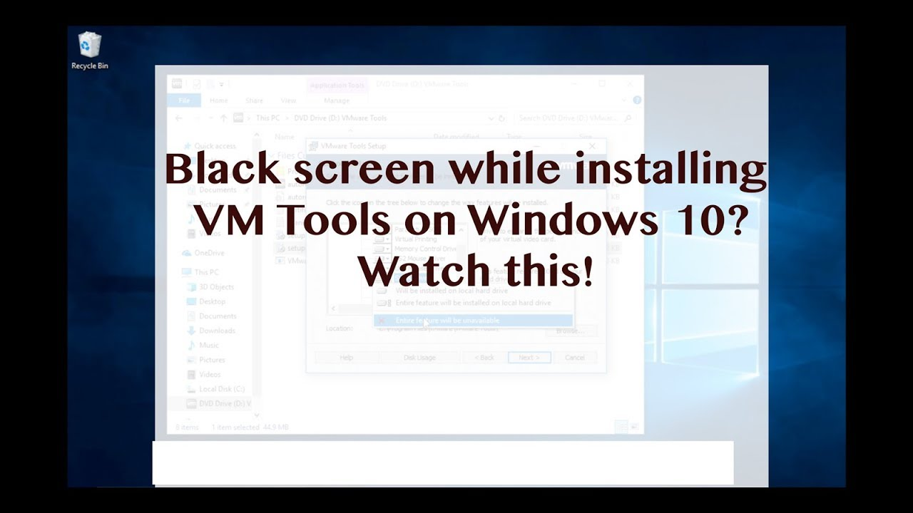 5 Minutes Tips: Avoid VM Tools install results in a black screen