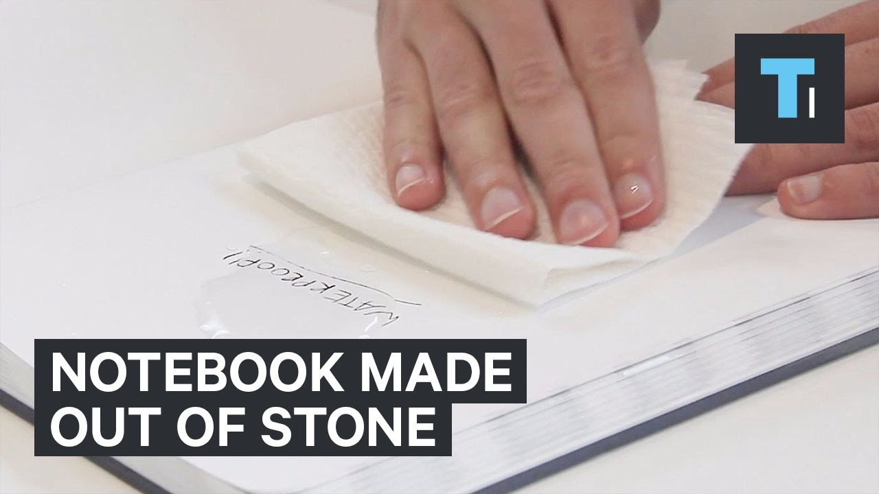 This waterproof notebook is made out of stone