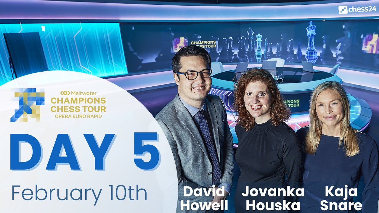 Download $1.5M Meltwater Champions Chess Tour: Opera Euro Rapid | Day 5 | Commentary by D. Howell & J. Houska