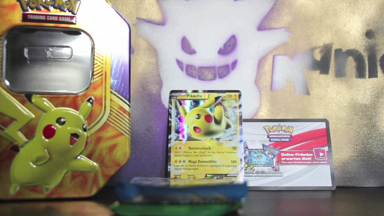 Pokemon Karten Pikachu Ex.Opening Pokemon Karten Pikachu Ex Tin Box Kampfherz Battle Heart Booster Packs Deutsch