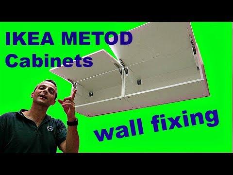 IKEA METOD Cabinets wall mounting - YouTube