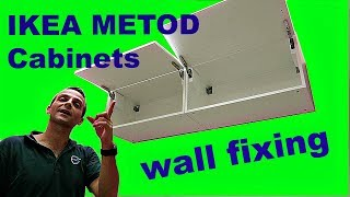 How to mount IKEA METOD wall cabinets to the wall. We have two IKEA METOD cabinets horizontal measurements 80cm-40cm