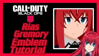 BO4 | Rias Gremory Anime Emblem Tutorial [Live Commentary] | Black Ops 4 Emblem/Paintjob Tutorial #8