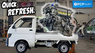 JDM Mini Truck First MODS! + ZHP Swap Engine READY!