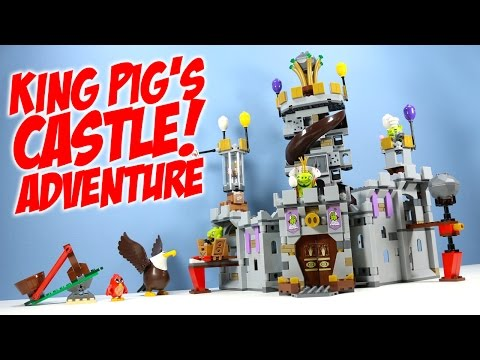 LEGO The Angry Birds Movie King Pig's Castle 75826 Speed Build Adventure