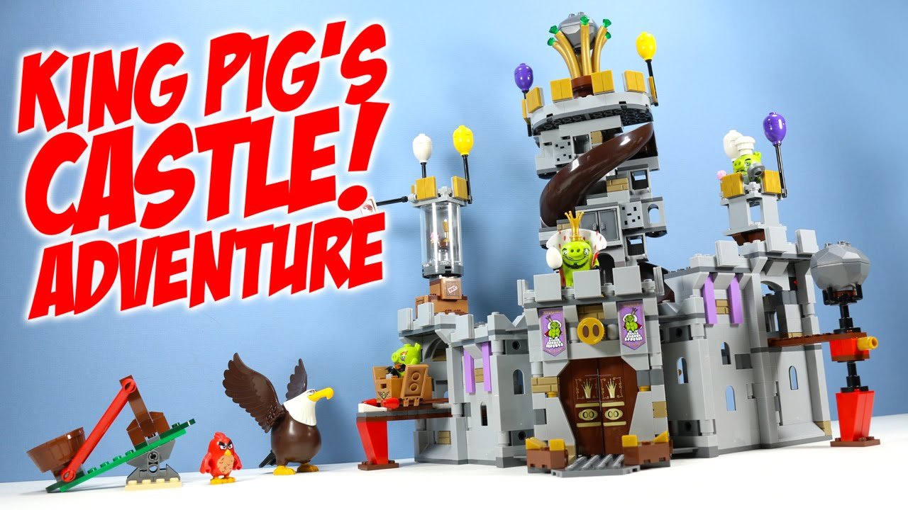 Lego The Angry Birds Movie King Pigs Castle 75826 Speed Build