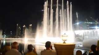 Burj Khalifa i fontanna w Dubaju