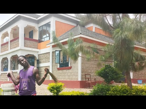 Cleaning Our Multi-Milion Mansion In Kenya Africa || Davy Jnr