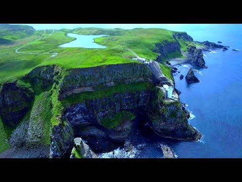 DJI Phantom 4 Drone   Rathlin Island   Co Antrim. Northern Ireland