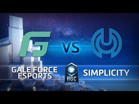 HGC North America- League Play Week 1- Simplicity vs. Gale Force Esports- Game 2