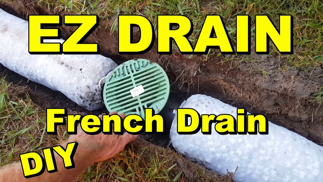 backyard sump ez flow french drain youtube. Black Bedroom Furniture Sets. Home Design Ideas