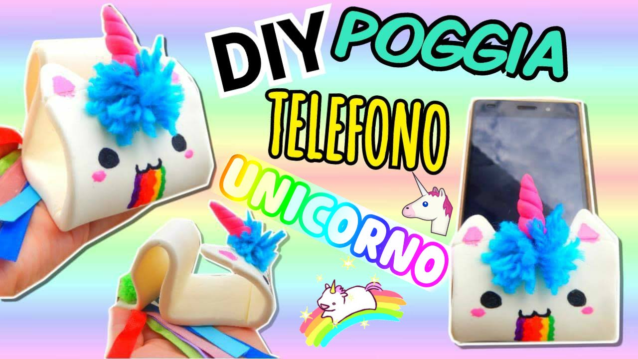 Unicorno poggia telefono fatto in casa diy room decor for Cose fai da te semplici