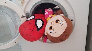Berat Spiderman ile Niloyayı Çamaşır Makinesinde Yıkadı Fun Kids Video