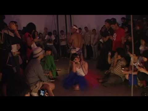 """""""KAGE"""" / Shadow of Light - Dance performance with Risa FUKAYA for Opening reception, 15 Sept. 2010 at Mizuma Art Gallery"""