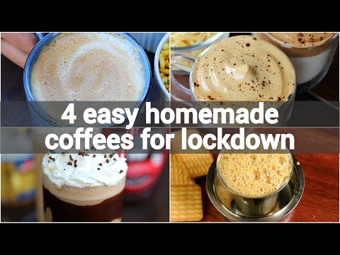 4 easy homemade coffee recipes for lockdown | instant coffee recipes | lockdown beverage recipes