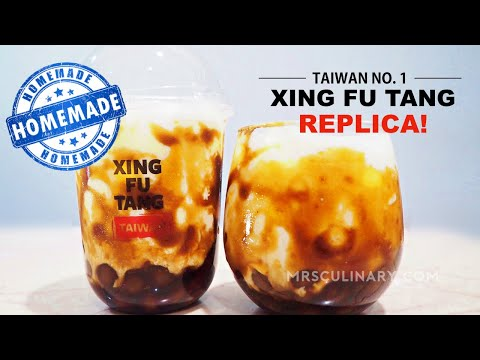 Resep Brown Sugar Boba Ala Xing Fu Tang | Homemade Bubble Tea Kenyal!!