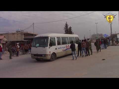 مشاهد من وصول المتظاهرين من شنكال واقليم الفرات لتوجه الى عفرين 5-1-2018