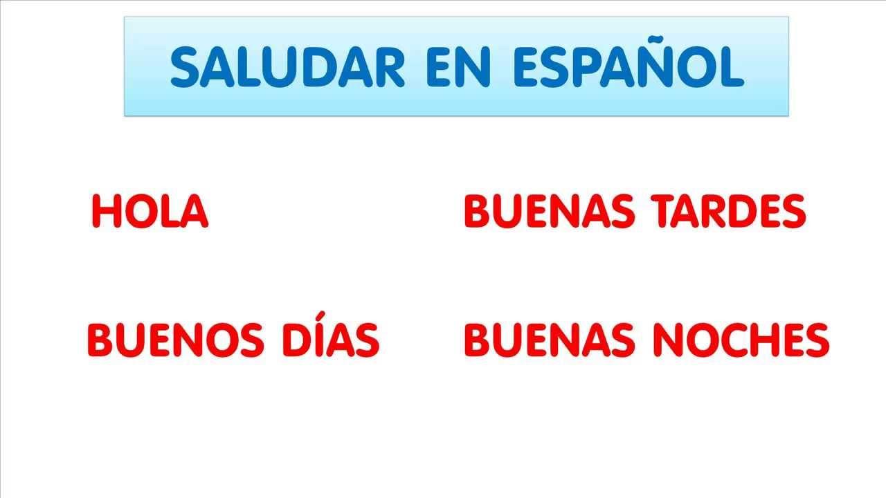 cours d u0026 39 espagnol  saluer en espagnol
