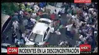 Ejes - Imágenes de los incidentes después de la marcha de la CGT